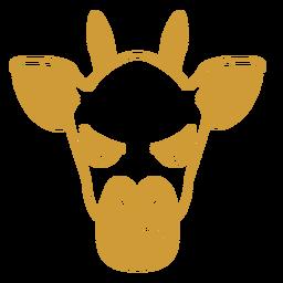 Giraffe angry head muzzle stroke