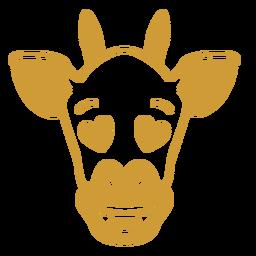 Curso de focinho de cabeça de girafa apaixonado