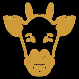 Giraffe happy head muzzle stroke