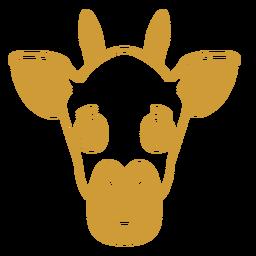 Giraffe joyful head muzzle stroke