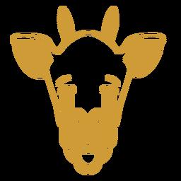 Giraffe sad head muzzle stroke