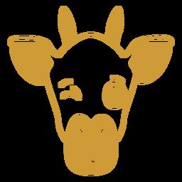 Giraffe wink head muzzle stroke
