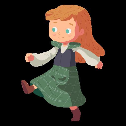 Saia escocesa de menina plana Transparent PNG