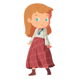 Girl skirt scottish flat