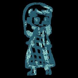 Linha escocesa de saia de menina