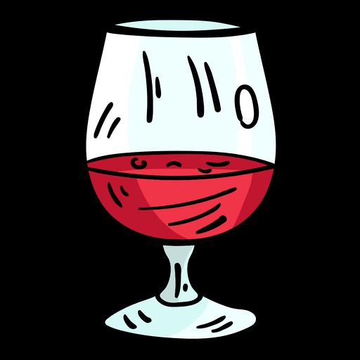 Bosquejo de vino de cristal Transparent PNG