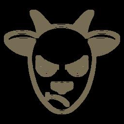 Focinho de cabeça com raiva de cabra