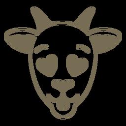 Focinho de cabeça de cabra apaixonado