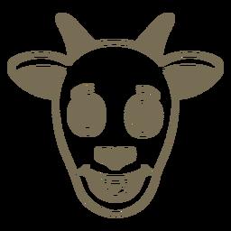 Cabra cabeza feliz hocico plano