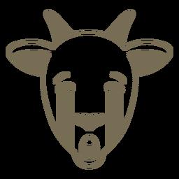 Cabra cabeza triste hocico plano