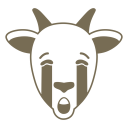 Focinho de cabeça triste de cabra