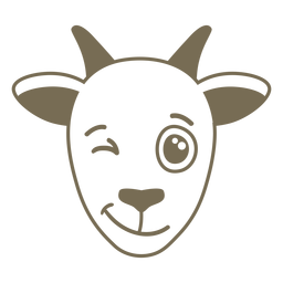Goat wink head muzzle flat