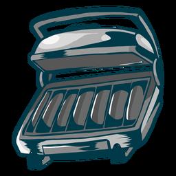Grill roaster flat
