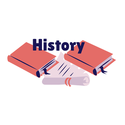 History book manual badge sticker
