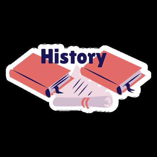 Etiqueta engomada de la insignia del manual del libro de historia Transparent PNG