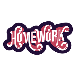 Homework badge sticker