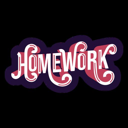 Homework badge sticker Transparent PNG