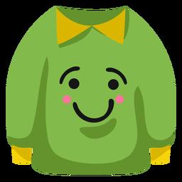 Casaco casaco sorrir plana