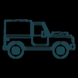 Curso de roda de veículo de carroçaria de jipe