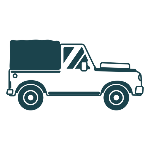 Jeep body vehicle wheel car detailed silhouette Transparent PNG