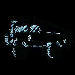 Jeep carrocería vehículo rueda línea