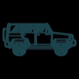Jeep carrocería vehículo rueda trazo
