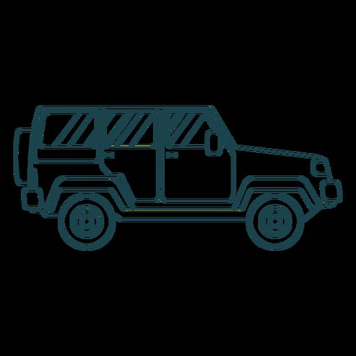 Jeep carrocería vehículo rueda trazo Transparent PNG