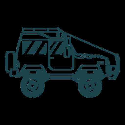 Jeep coche vehículo carrocería rueda silueta detallada Transparent PNG