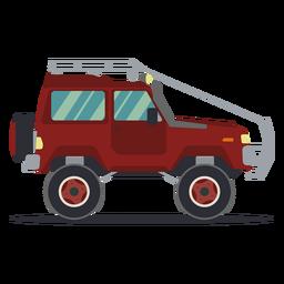 Jeep carro veículo corpo roda plana