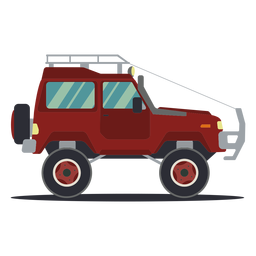 Jeep coche vehículo carrocería rueda plana