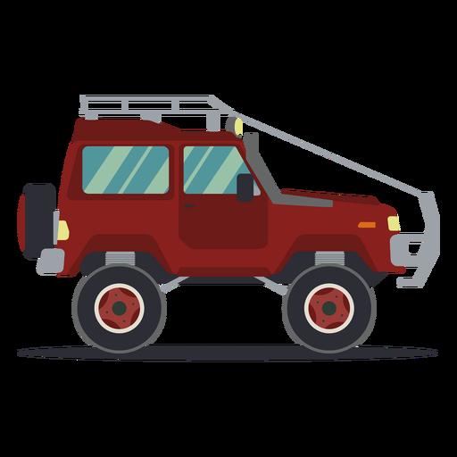 Jeep car vehicle body wheel flat