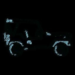 Jeep coche vehículo carrocería línea de rueda