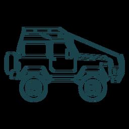 Jeep car vehicle body wheel stroke