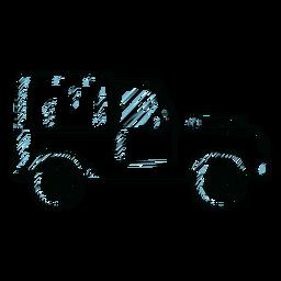 Jeep car vehicle wheel body line
