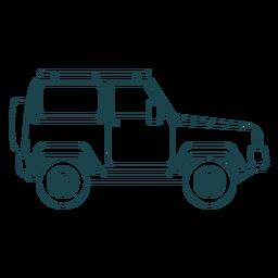 Jeep coche vehículo rueda cuerpo trazo