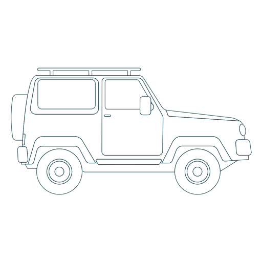 Jeep car vehicle wheel body stroke Transparent PNG