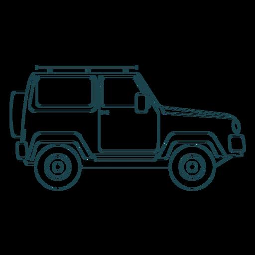 Jeep coche vehículo rueda cuerpo trazo Transparent PNG