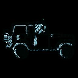 Jeep coche rueda vehículo línea de carrocería