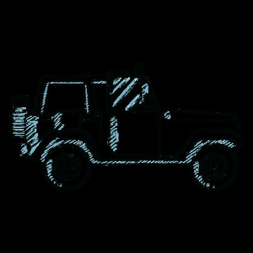 Línea de carrocería de vehículo de rueda de coche Jeep Transparent PNG