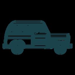 Jipe veículo corpo carro roda silhueta detalhada