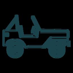Ausführliches Schattenbild des Jeepfahrzeugkörper-Radautos