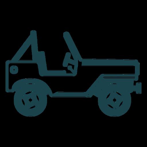 Jeep vehículo carrocería rueda coche silueta detallada Transparent PNG