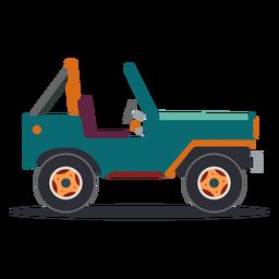 Jeep veículo corpo roda carro plana