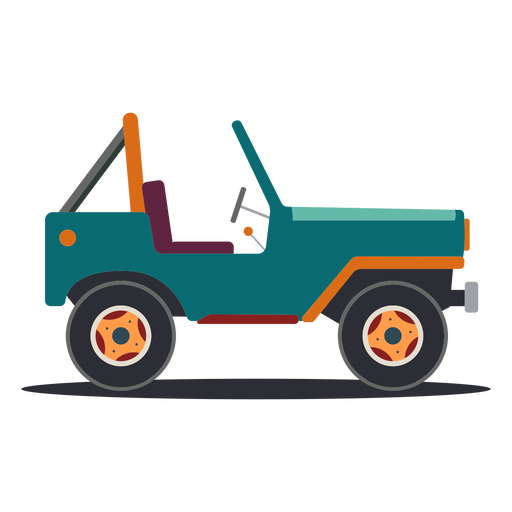 Jeep vehicle body wheel car flat Transparent PNG