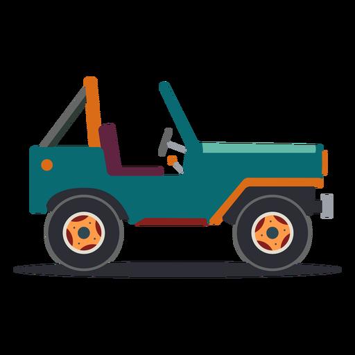 Jeep vehicle body wheel car flat