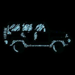 Jeep carrocería del vehículo rueda línea de coche