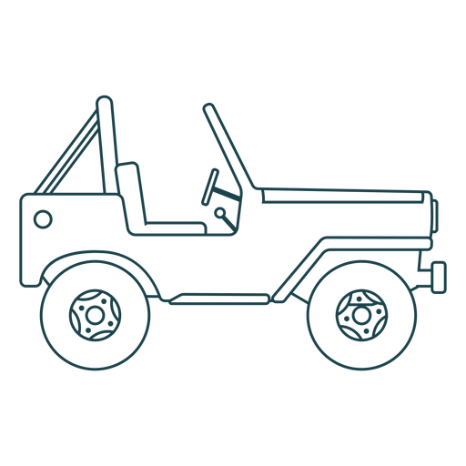 Jeep vehicle body wheel car stroke Transparent PNG