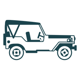 Jeep vehicle car body wheel detailed silhouette