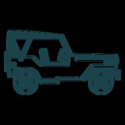 Jipe veículo carro corpo roda silhueta detalhada