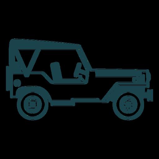 Jeep vehículo carrocería rueda rueda silueta detallada Transparent PNG